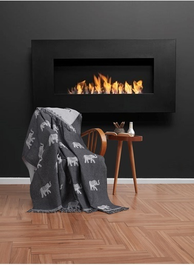 Eponj Home Keten Koltuk Örtüsü 170x220Cm Fil Siyah